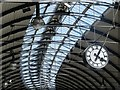NZ2463 : Newcastle Central station roof and clock : Week 18