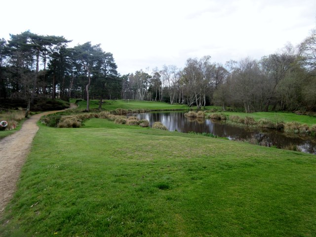 west sussex golf course peter holmes geograph britain. Black Bedroom Furniture Sets. Home Design Ideas
