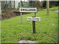 TM1953 : Swilland Village Name & The Old Mill signs by Adrian Cable
