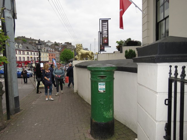 VR post box outside the old White Star Line building