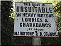 TQ7551 : Pre-Worboys sign on High Banks, Loose by David Howard