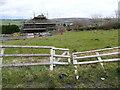 SE0221 : Gate on footpath approaching Upper Burnt Moor Farm, Soyland by Humphrey Bolton