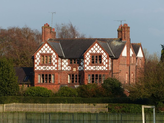 Ornate brick house in Great Barrow