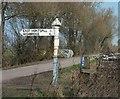 ST3643 : Signpost, Red House by Derek Harper