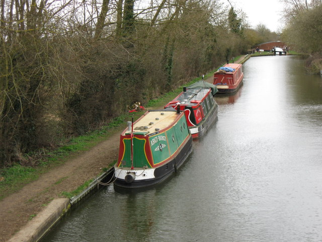 Canal Barges on the Aylesbury Canal at Wilstone