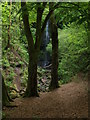 NS4760 : Approaching  Craigie Linn waterfall by Alec MacKinnon