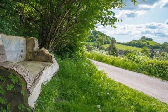 Chiselborough:  Carved seat