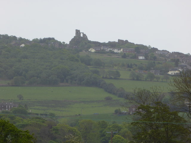 Distant view of Mow Kop from Little Moreton Hall