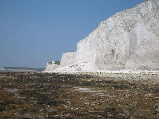 Debris apron from rockfall at Brass Point, East Sussex