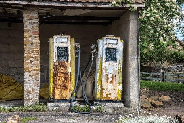West Chinnock: Old Petrol Station
