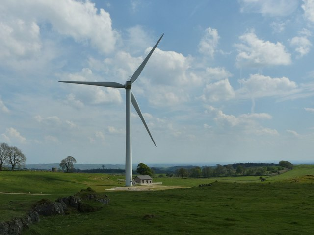 Wind turbine, Carsington Pastures