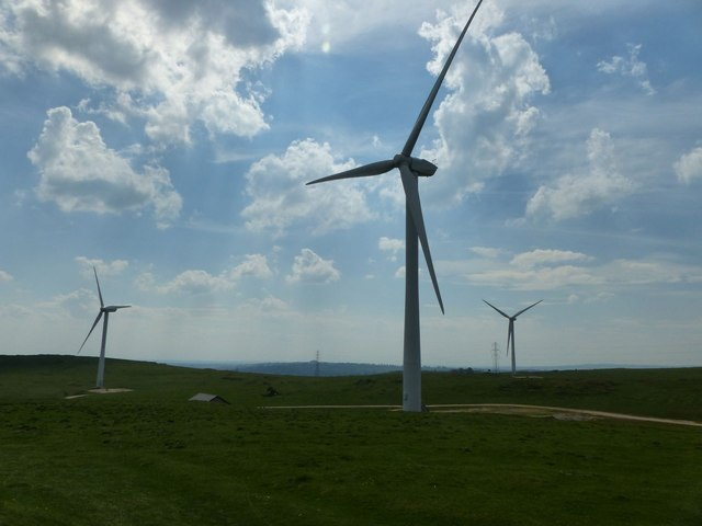 Wind turbines, Carsington Pastures
