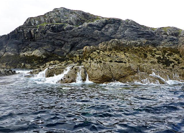 Wave-washed rocks