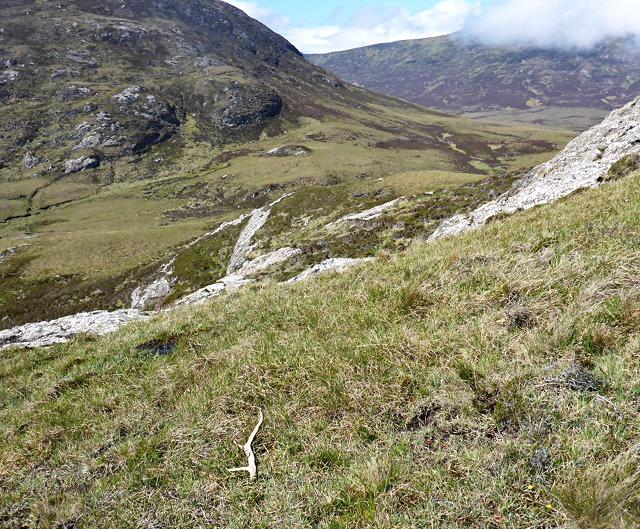 Gleann Mile-feala and the foot of Beinn Ghòt