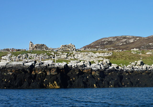 Ruined buildings at Buaile-mhòr