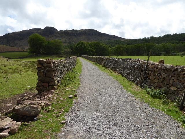Path follows line of disused railway
