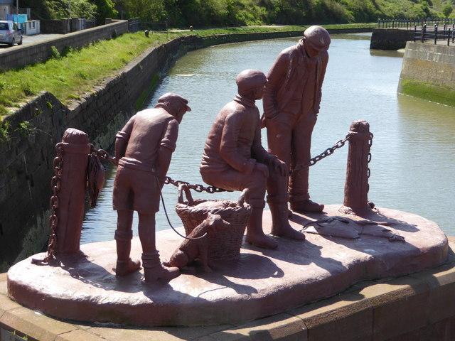 Memorial to the fishermen of Maryport