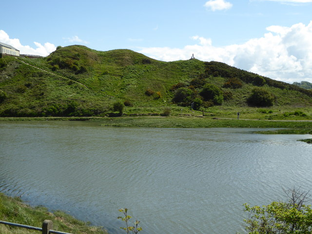 Ancient earthworks by the river in Maryport