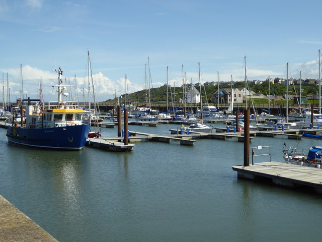 The marina at Maryport