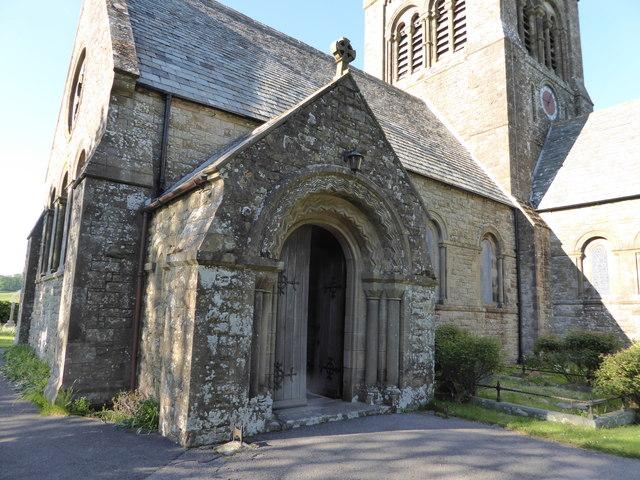 The porch of St Bridget's church, Bridekirk