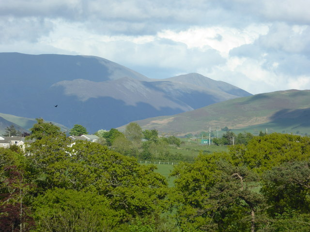 View to the hills of the Lake District from the outskirts of Cockermouth