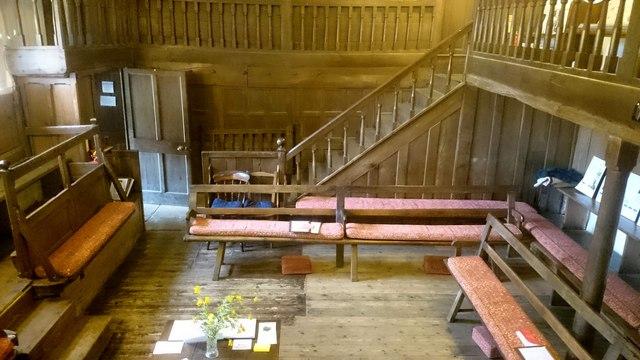 Brigflatts Meeting House interior