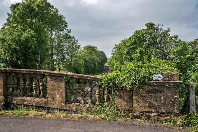 Chantmarle: Road Bridge over the Yeovil to Weymouth railway