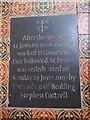 SU9272 : St Peter, Cranbourne: fire restoration commemoration by Basher Eyre