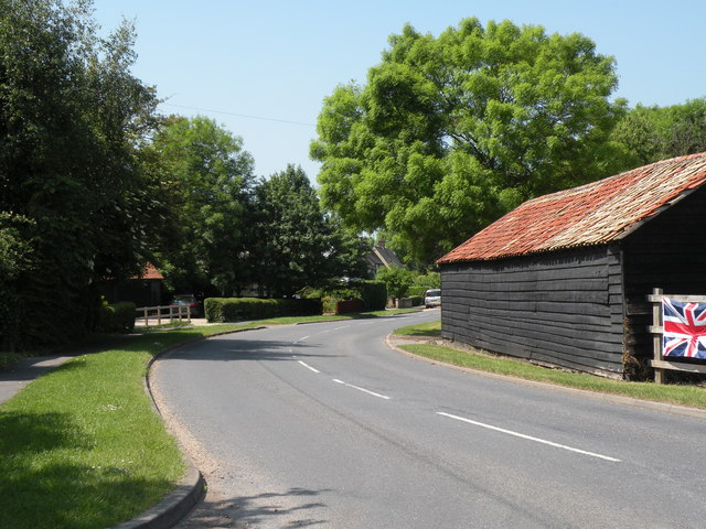 Grantchester Road, heading towards Coton