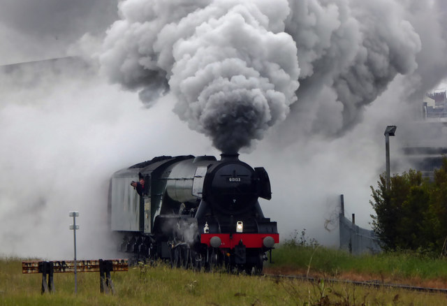 The Flying Scotsman leaving Cleethorpes railway station #2