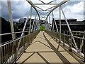 H4572 : Footbridge with shadows, Omagh : Week 24