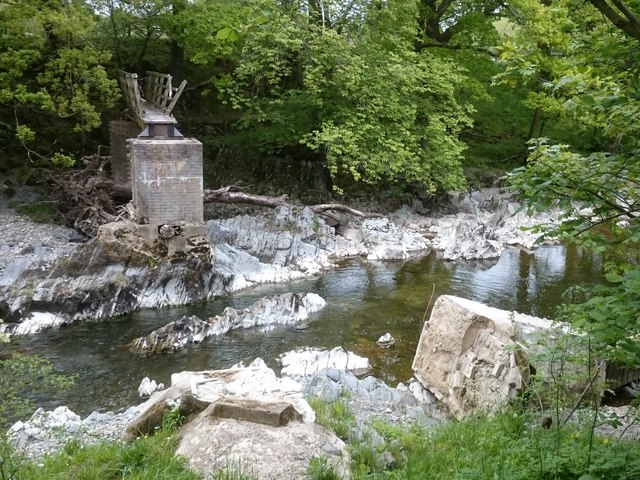 Birks Mill footbridge washed away