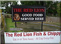 SJ7769 : Sign for the Red Lion Inn, Goostrey by JThomas