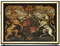 TL0117 : St Mary Magdalene, Whipsnade - Royal Arms by John Salmon