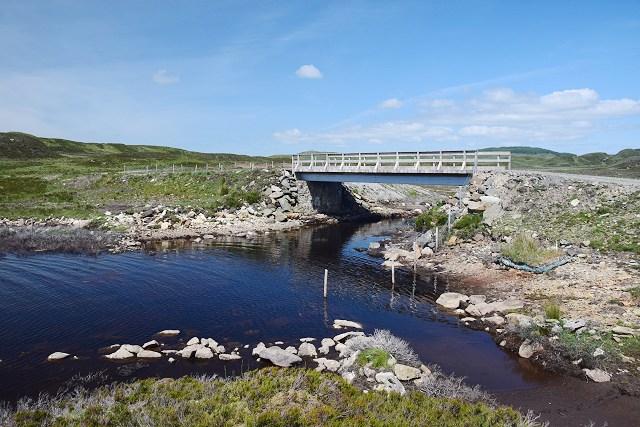 New bridge at Loch Gainmheach