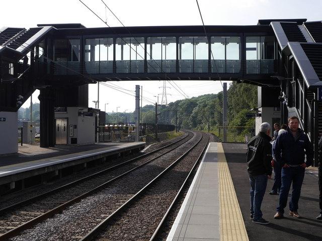 The bridge, Kirkstall Forge Station