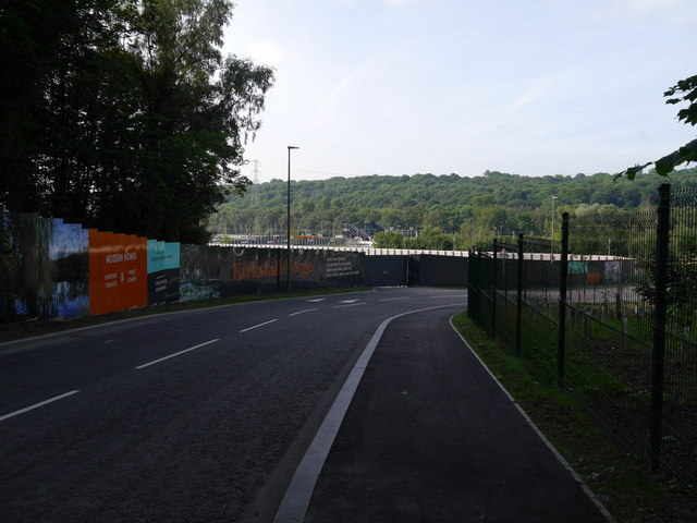 The new road into Kirkstall Forge