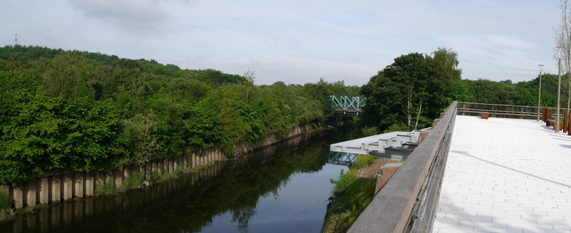 The River Aire at Kirkstall Forge