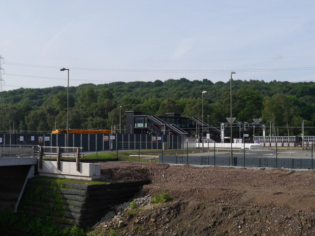 Looking across the River Aire towards Kirkstall Forge Station