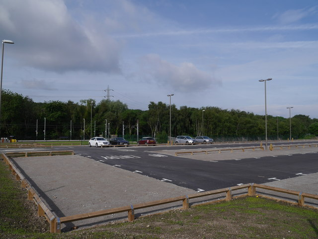 Car park for the new Kirkstall Forge Station