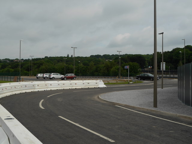 The road outside Kirkstall Forge Station