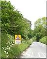 SX5457 : Warning sign north of Plympton by David Smith
