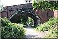 SJ2779 : Bridge over the Wirral Way by Jeff Buck