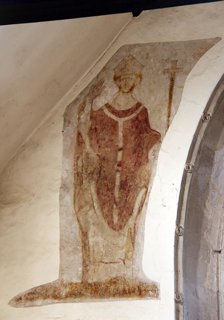 St Lawrence, Abbots Langley - Wall painting