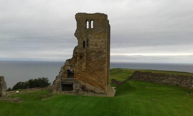 Scarborough Castle's remains