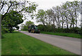 SK6119 : Paudy Lane towards Six Hills with a tractor and trailer by Andrew Tatlow
