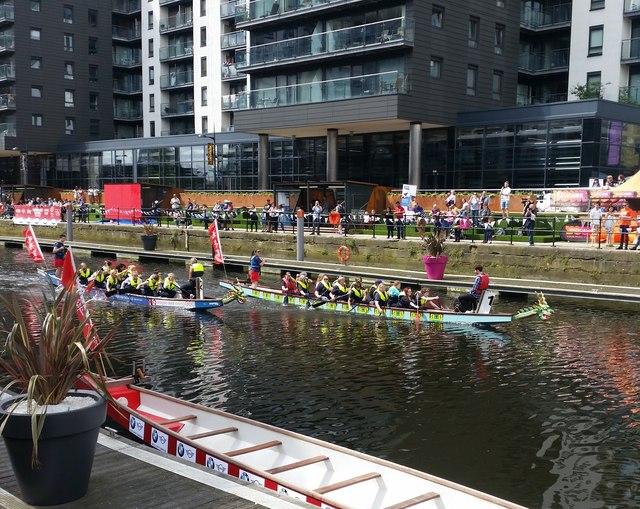Dragon Boat racing in Leeds Dock