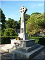 SO0288 : War memorial, Llandinam by Christine Johnstone
