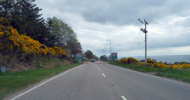A9 about to enter Portgower