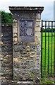 SP3610 : Heraldic emblem, King George's Field, Newland, Witney, Oxon by P L Chadwick